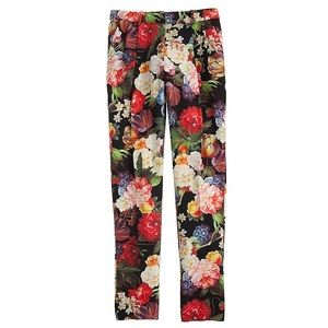 J Crew Collection Dutch Floral Pants EUC 2